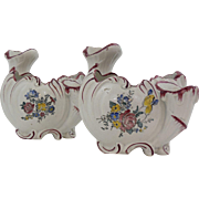 Lovely Pair of Sax-Gotha German Faience Vases