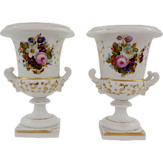 "Beautiful Pair of ""Old Paris"" Medici"
