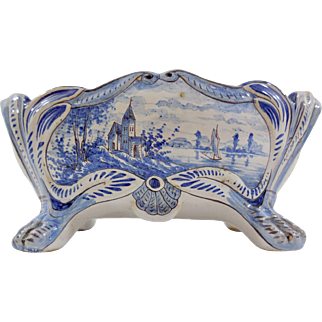 Lovely Miniature Delft Cachepot