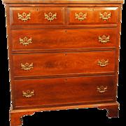 George III period Hepplewhite mahogany 2 over 3 chest