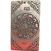"Old Chinese ""All the Way to Glory"" Tibet Silver Bullion Thanka Amulet 135grams - Age Unknown"