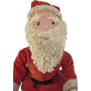26 inch  Wood Jointed Display Santa Doll ~  Fur, Velvet CUTE!!