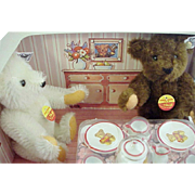"Steiff  ""1903 Teddy Bear Tea Party"" in  Room Setting Display"