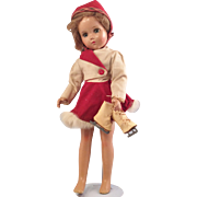 "Nancy Lee Skater Doll 1940~  R&B 18"" Composition"