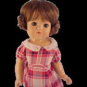"15"" Mystery  doll~ Hard plastic 1950 ~"