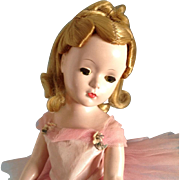 "15 ""  Margot Ballerina~c. 1951~  Hard plastic  original Mme Alexander"