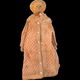 "Early, all original~ M & S Superior 12"" Greiner Paper Mache Doll"
