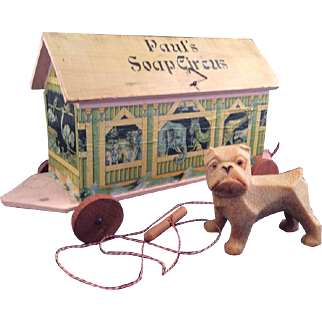 "Antique Toy Litho Wood Ark~ Castile Soap Promo~ ""Paul's Soap Circus"""