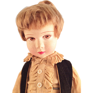 French Raynal Doll~19 inches~ Velvet & ruffles~ Prince
