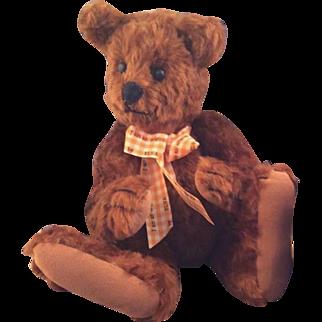 Silky Chocolate Mohair Artist Teddy Bear ~ 11 Inches ~Charming