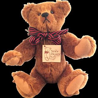 """13 inch Cinnamon Mohair Teddy Bear ~ artist """"Kathleen Wallace"""""""