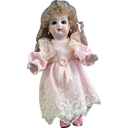 """Exquiste ~Artist doll~  8.5 inch """"Bebe"""" ~All Bisque Paperweight eyes~ Mohair Feidt wig"""
