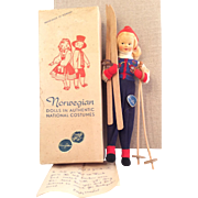 "Ronnaug Petterssen~ Mint in Box~ Cloth Face ""Skier"" Gal~ 8"" Perfectly delightful!"