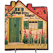 1934~  The Paper Doll Family and Their House~Charming Deco design~  No. 2094  The Saalfield Pub. Co.,