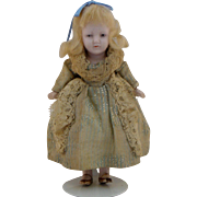 All bisque doll~ Hertwig 4.75 inch Germany~  Princess