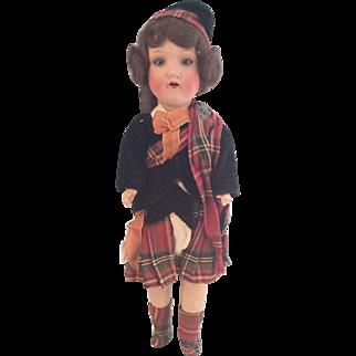 Belmoral Souvenir Doll~ Scottish~ AM 390~ 13.5 inch