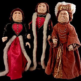Red Queen + King & Queen of Hearts~ Alice in Wonderland Characters 18 Inches~ Doll Artist Diane MacGregor