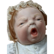 Screaming Baby Doll~ Bisque head c 1980's
