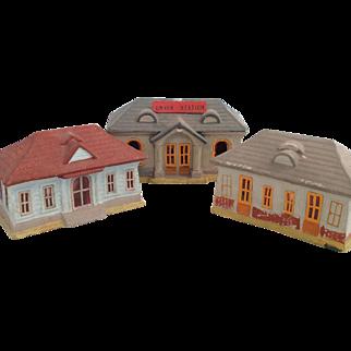 Vintage 'Union Station' train depot- 3 buildings~