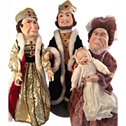 ALice in Wonderland ~ Bisque Artist Dolls~ King & Queen of Hearts and The Rd Queen with Baby~ Character Portraits
