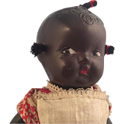 "Darling Black American Googly Toddler~ 9"" Composition"