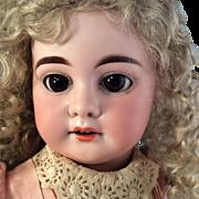 "~ 21""~  A 1894 M~ Original Pink dress~ antique Bisque head doll~ Wonderful!"