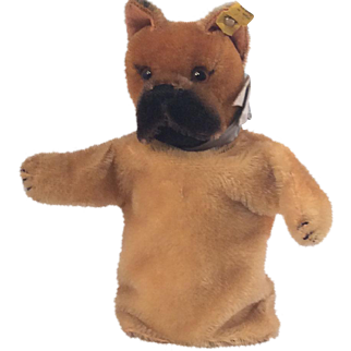 Steiff ~ Mohair Dog Boxer  Puppet~  CUTE ~ Very nice condition