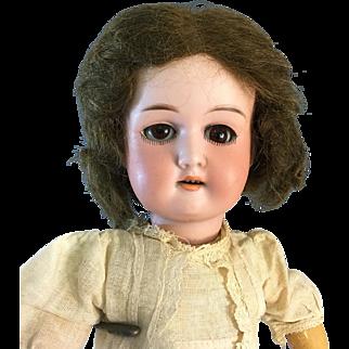 "14"" Flora Dora A.M~ Original dress & wig- Lovely condition~German Bisque socket head doll"