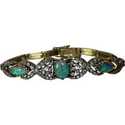 Vintage Australian Opal And Diamond Bracelet, 14karat Yellow Gold