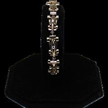 Ladies Indy Race Car Bracelet With Diamonds, 14Kt YG