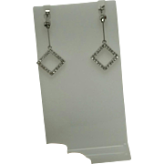 Diamond Dangle Earrings, 14kt WG