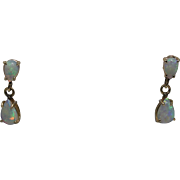Opal Drop Earrings, 14K YG