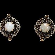 Opal Earrings 14Kt YG