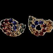 Stunning Multi Gemstone High End Earrings, 14kt YG