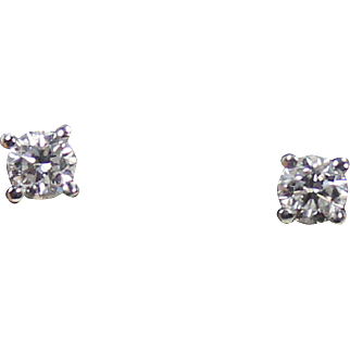Superior Diamond Studs, 1/3 ctw F-G color VS , 14Kt WG