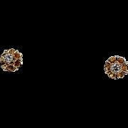 Buttercut Diamond Earrings, 14Kt YG