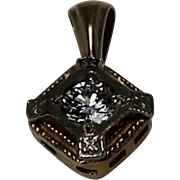 Vintage Diamond Pendent,Two Toned, 14Kt