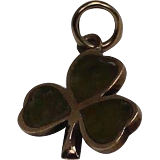 Vintage Shamrock Charm or Pendent, 10Kt YG