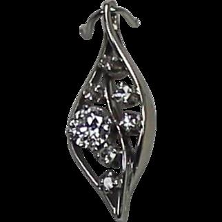 European Cut Diamond Pendent, 14Kt WG