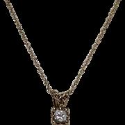 Princess Cut Diamond Pendent, Approx. 20 Points, 14 K YG