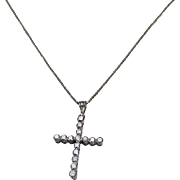 Gorgeous Diamond Cross Pendent. 18K and 14Kt WG