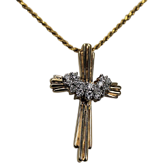Diamond Cross, 14 Kt YG