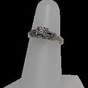 Vintage Diamond Ring, 14K WG