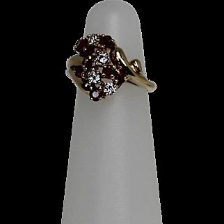 Ruby and Diamond Ring, 14k YG