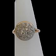 Old Mine Cut Diamond Ring, 14Kt YG