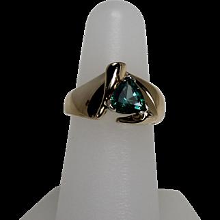 Green Topaz Ring, 10Kt YG