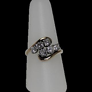 1.4ctw Diamond Cluster Ring G-H, VS, 14 Kt YG