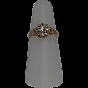 Victorian Diamond Daisy Ring, 18Kt, YG