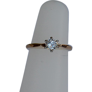 Beautiful Diamond Solitaire, 36 points, 14Kt YG