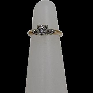 Vintage Diamond Ring, 14Kt YG
